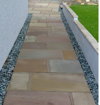 AUTUMN BROWN SANDSTONE PAVING PATIO SLABS