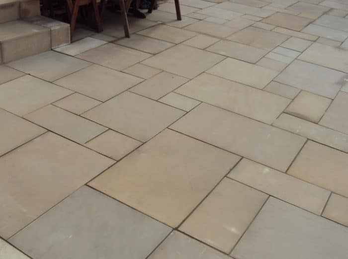 600 Patio Pack 19 50 M2 Golden Sand Smooth Sawn Sandstone