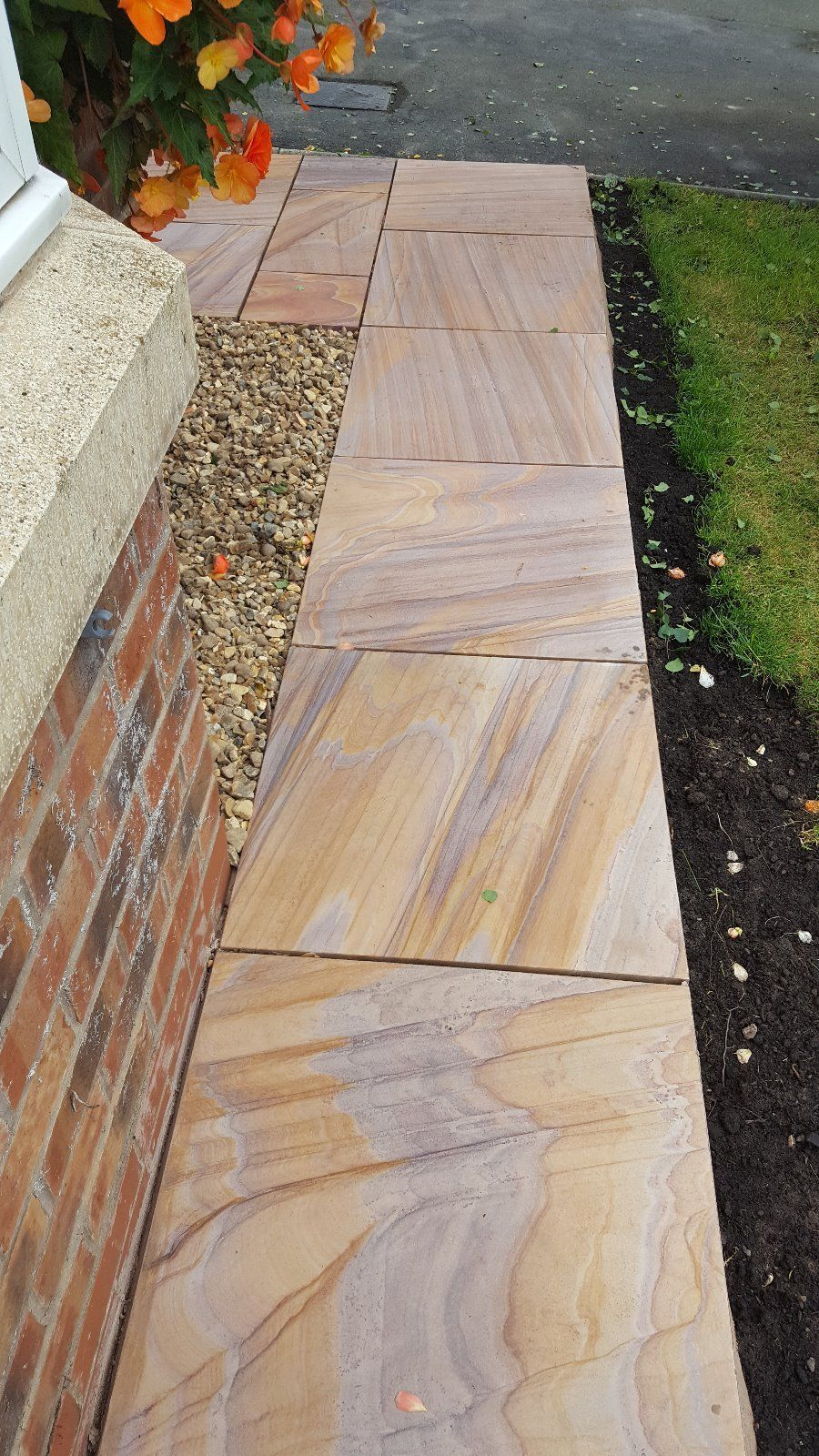 600 Msp 22 11 M2 Rainbow Smooth Sawn Sandstone Paving