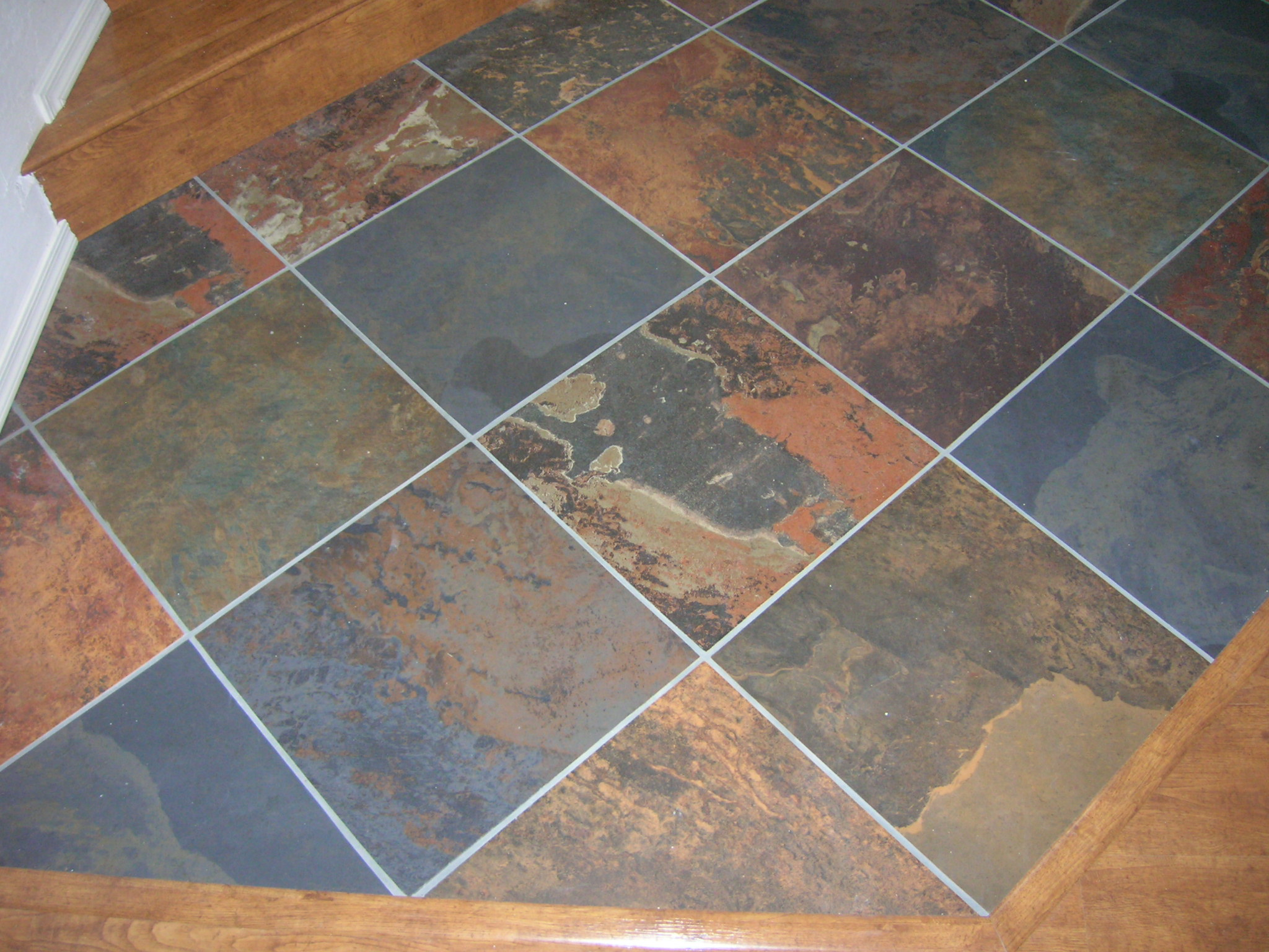 Slate Stone Tiles : Mm m jak multi color slate tiles pave world